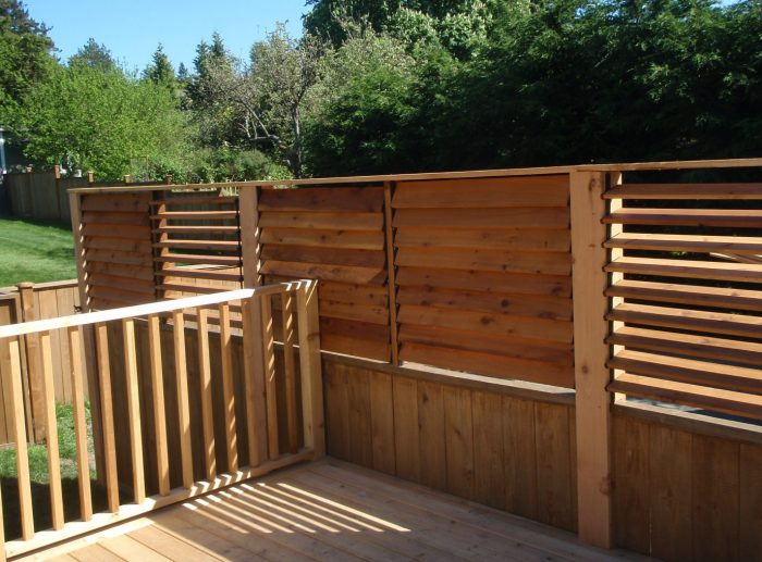 recently completed fence