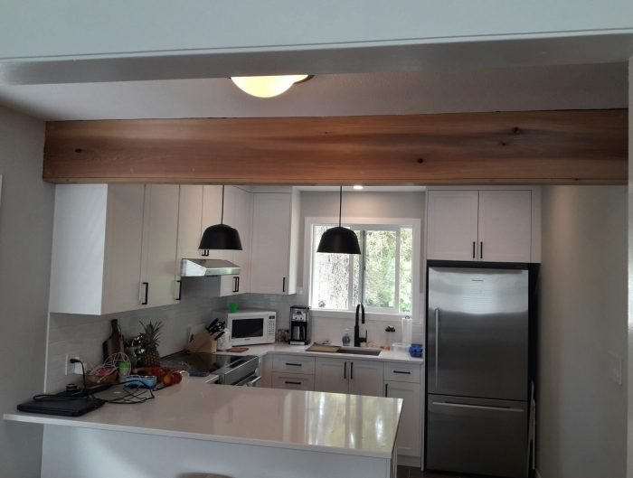 a basement suite kitchen renovation