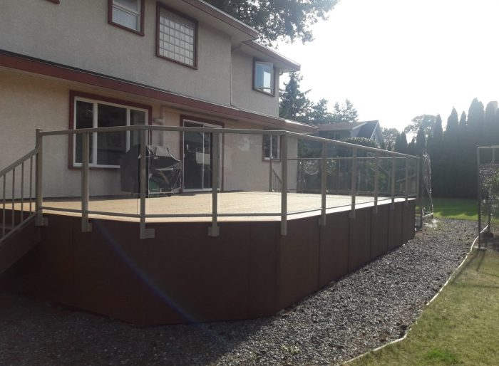 a completed sundeck