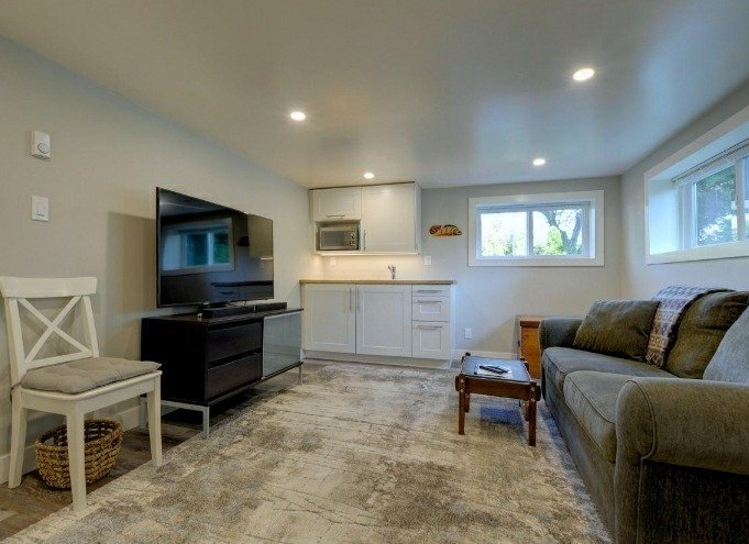 a complete basement renovation and secondary suite