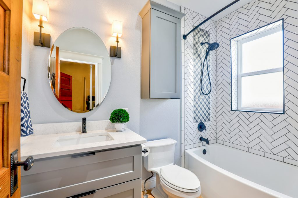 a renovated bathroom