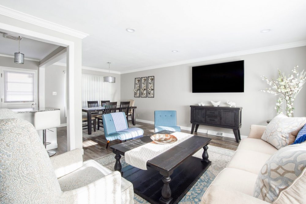 a renovated living room